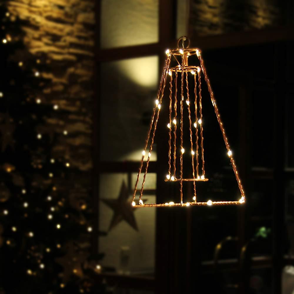 Beleuchtete Laterne aus Metall für Weihnachten