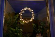 Lichterkranz Ø 40cm Kupfer 40 LED beleuchtet zum Aufhängen Weihnachten