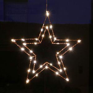 Draht-Stern 47 cm rund mit 35 LED