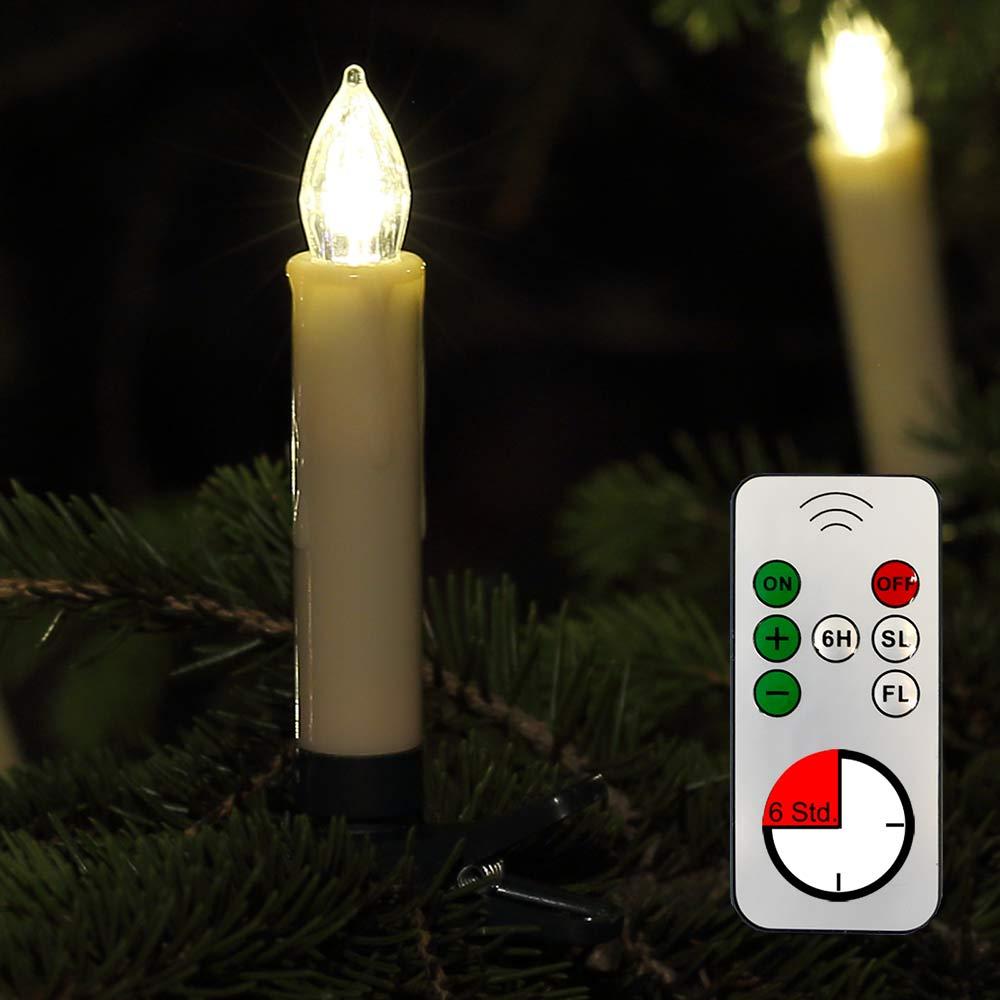LED-Kerzen für den Weihnachtsbaum mit Fernbedienung