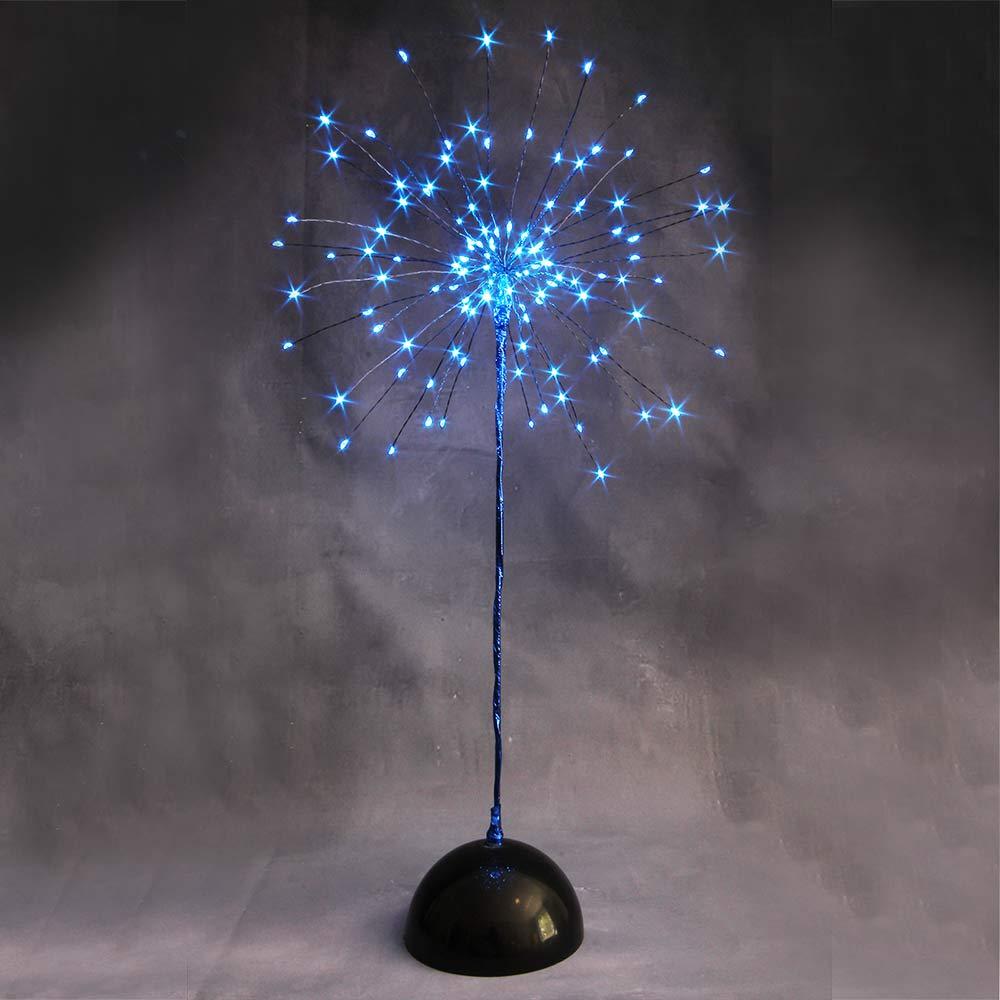 LED Tischbaum blau