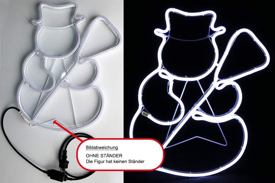 schneemann 360 led aus neon lichtschlauch figur 48 cm weihnachten au en garten ebay. Black Bedroom Furniture Sets. Home Design Ideas