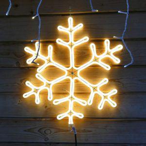 Schneeflocke 55x55 cm Neon-Lichtschlauch mit 720 LED