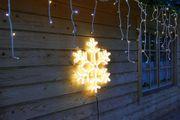 Schneeflocke mit 720 LED-Neon-Lichtschlauch beleuchtet