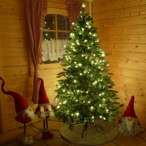 Lichterkette 20 m mit 200 Mini-Kerzen für Weihnachtsbaum