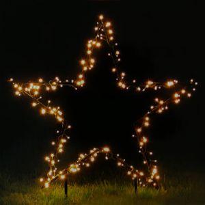 Gartenfigur Stern Ø 60 cm mit 150 LED