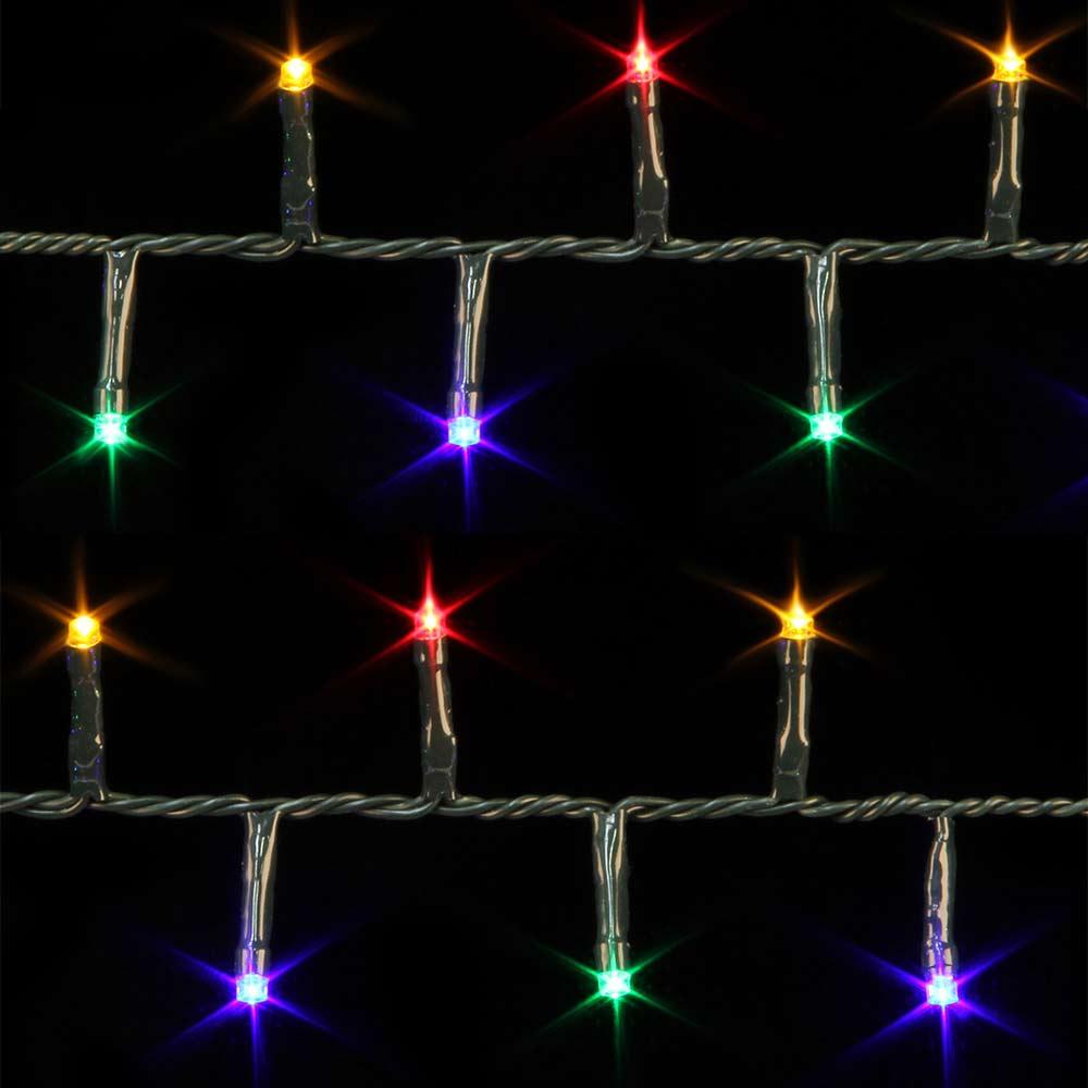 Lichterkette mit bunten LED und Programmen für außen