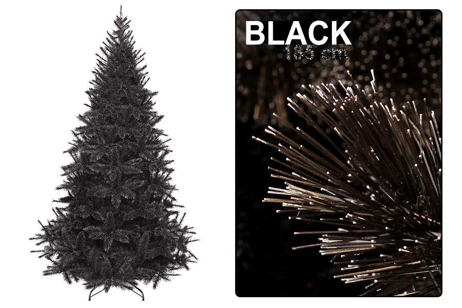 Schwarzer Weihnachtsbaum.Weihnachtsbaum Mit Schwarzen Nadeln