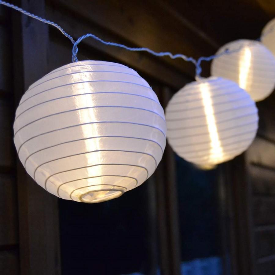 B Ware Lampion Lichterkette