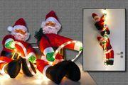 B-Ware: Zwei Weihnachtsmänner hängend Lichtschlauch für innen außen