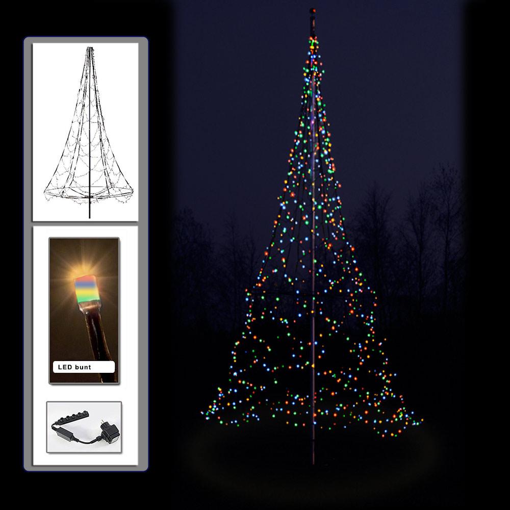 B-Ware - LED-Weihnachtsbaum 3 m mit 360 LED bunt
