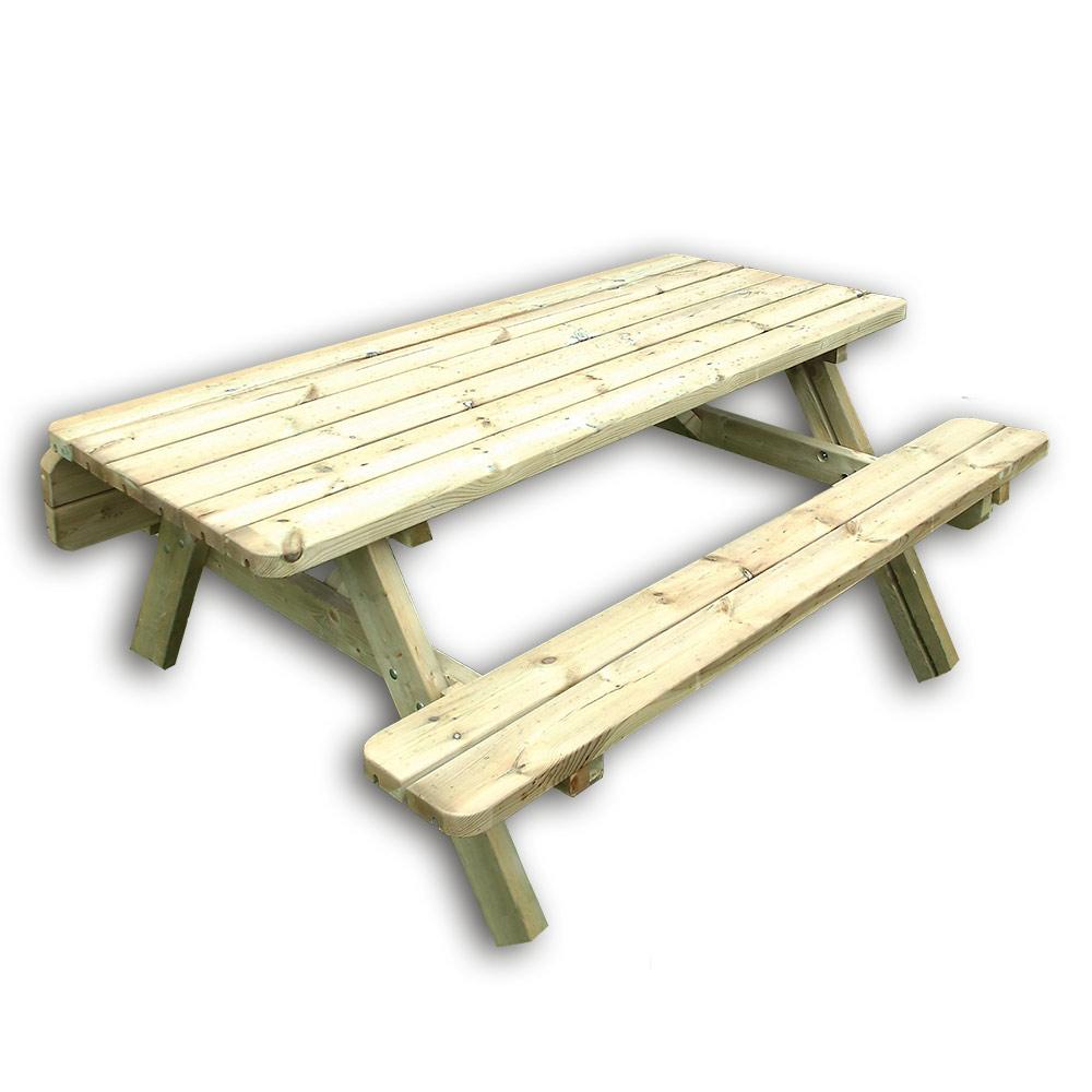 Gartentisch Mit Bänken Picknicktisch Für 6 8 Personen Aus Holz Pinie