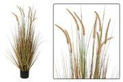Kunstpflanze als Ziergras mit Topf 120 cm hoch