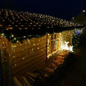 Eisregen 12 m 480 LED warmweiß mit Flashing-Effekt