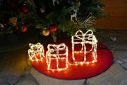 Geschenke als Figur für Weihnachten mit LED beleuchtet