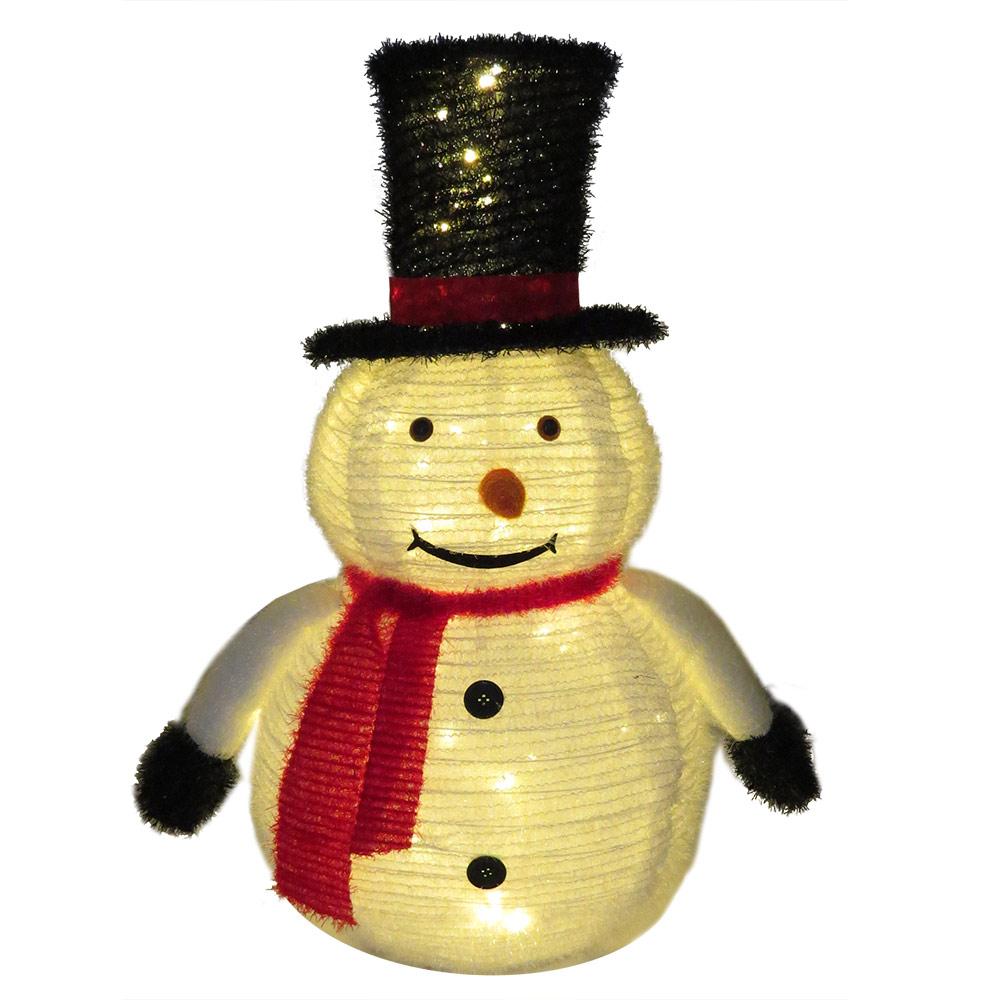 Schneemann beleuchtet für Garten