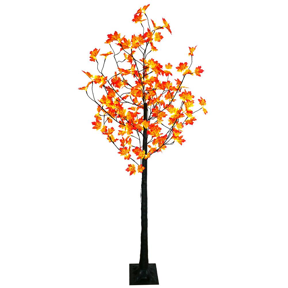 LED-Baum mit herbstlichen Ahornblätter von LED beleuchtet