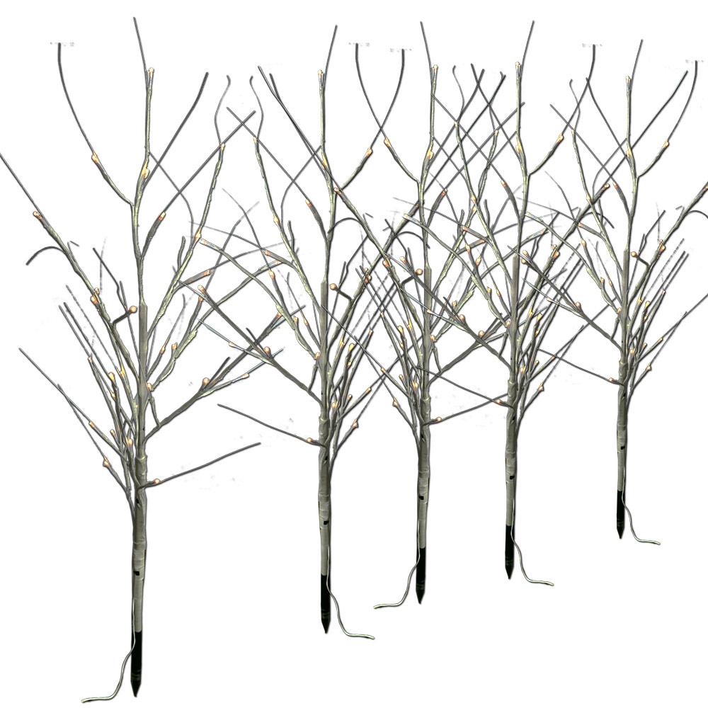 Lichterkette mit 5 Stück LED-Bäume