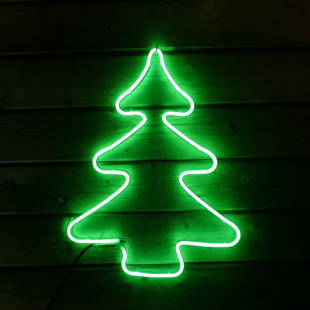 Neon Figur Tanne aus Lichtschlauch für Weihnachten