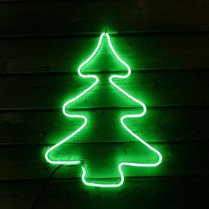 Tannenbaum aus Neon-Lichtschlauch 240 LED