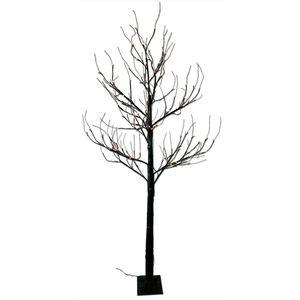 LED-Baum 200 cm schwarz mit 168 LED warmweiß IP44 mit Timer