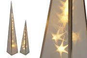 Hologramm Pyramide 60cm mit Metallrahmen zur Weihnachtsbeleuchtung
