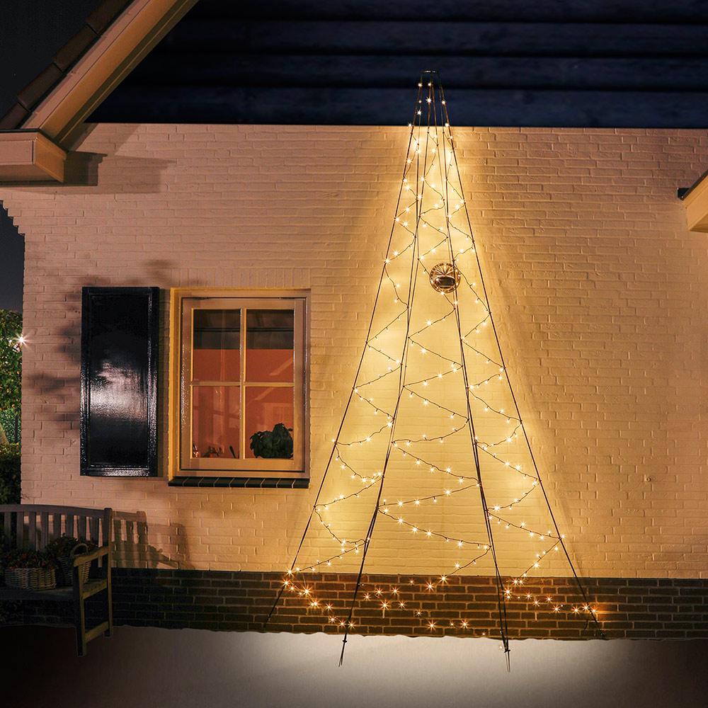 Künstlicher Weihnachtsbaum Für Aussenbereich.Künstlicher Weihnachtsbaum 400 Cm 240 Led Baum Halb Für Hauswand Außen
