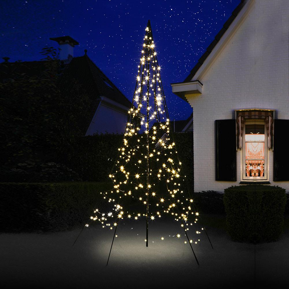 Weihnachtsbaum 300 cm 360 LED warmweiß beleuchtet LED-Baum outdoor ...