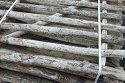 B-Ware - Zauntor 120 cm hoch Lattenabstand 7-8 cm für Haselnuss-Staketenzaun