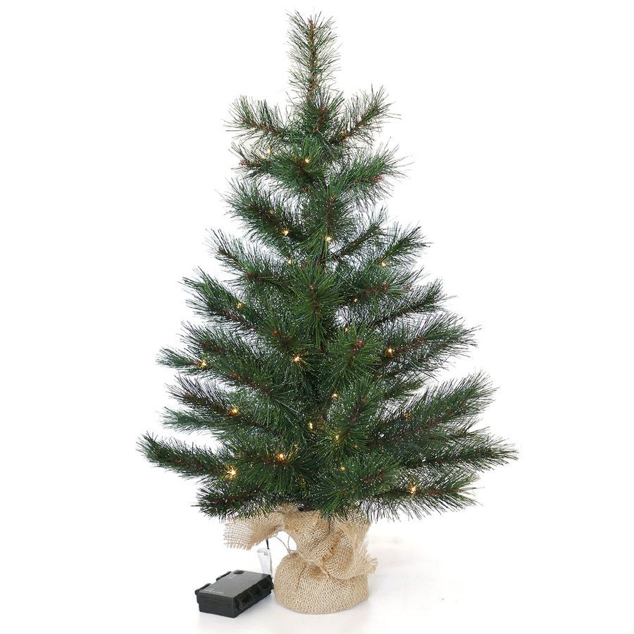 k nstlicher weihnachtsbaum 60 cm tischbaum tanne beleuchtet batteriebetrieben ebay. Black Bedroom Furniture Sets. Home Design Ideas