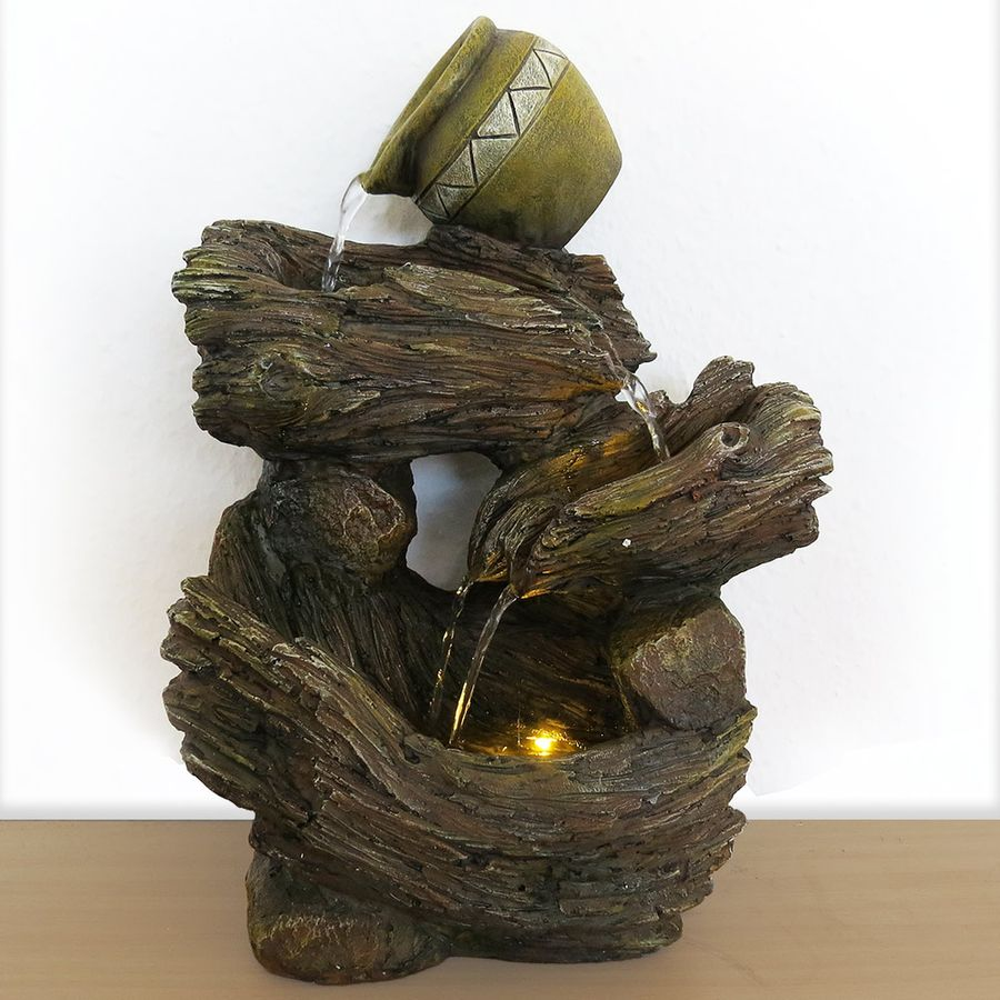 Tischbrunnen Zimmerbrunnen aus Polyresin mit Krug