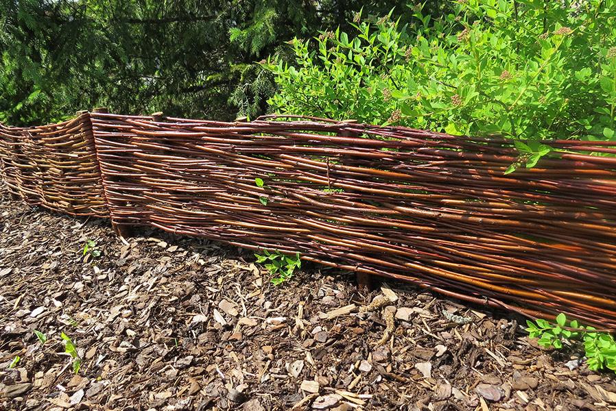 Nature LOUNGE Beeteinfassung Weide 20 x 120 cm Weiden Steckzaun als Beetumrandung oder Gartenabgrenzung
