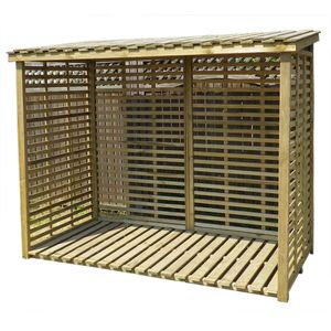 Kaminholzregal XXL mit Rückwand für 3,8 m³ Brennholz
