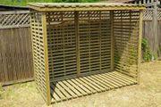 Regal mit Dach für Holzlager außen