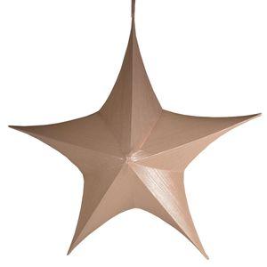 Großer Deko Stern 80 x 75 cm altrosa zum Aufhängen