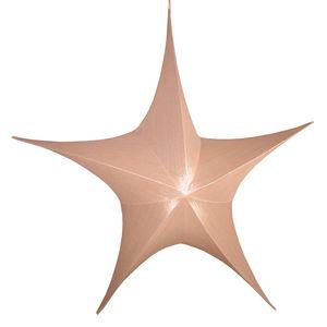 Großer Deko Stern 110 x 95 cm altrosa zum Aufhängen