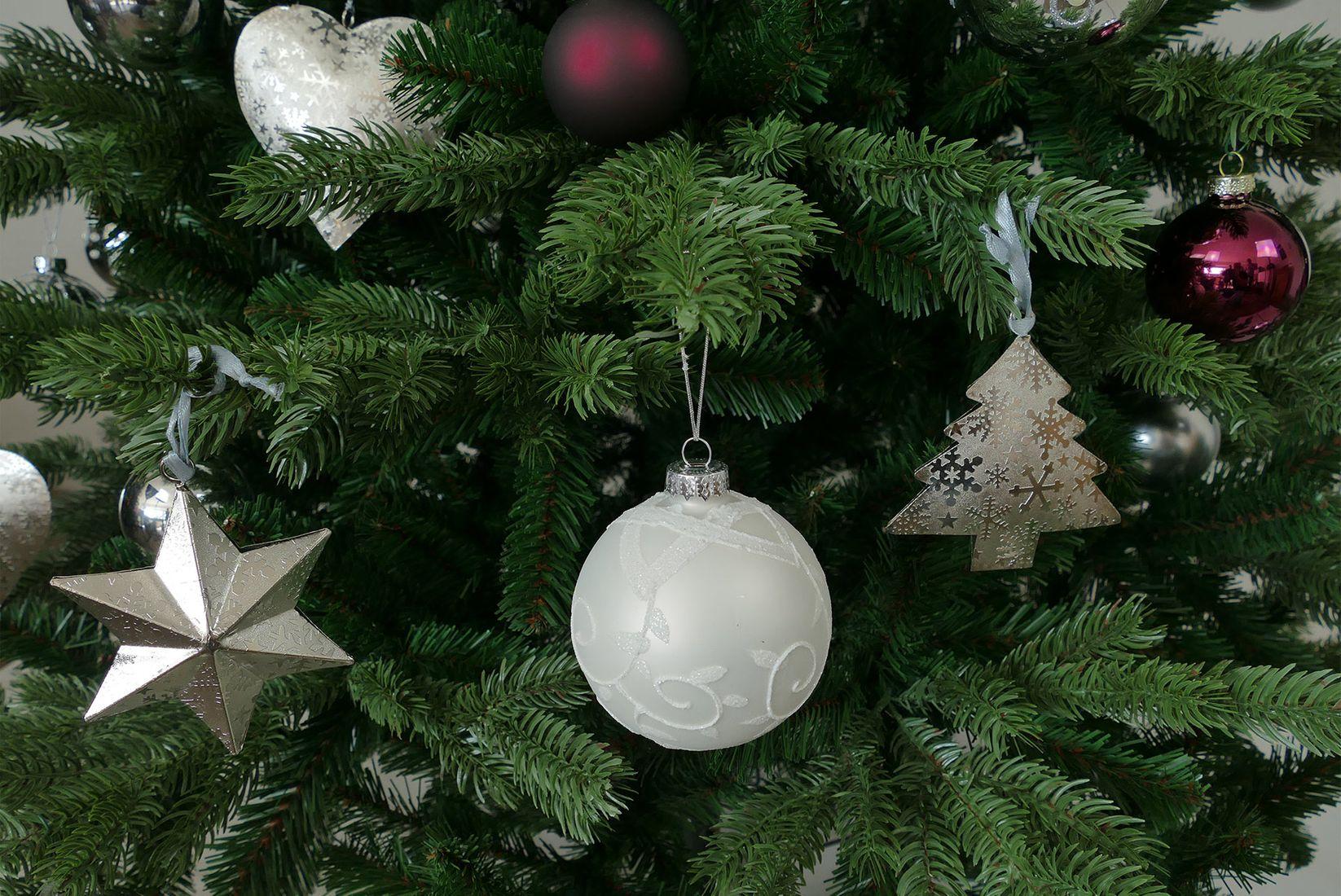 weihnachtsbaum deko set metall silber. Black Bedroom Furniture Sets. Home Design Ideas