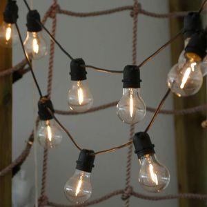 Lichterkette mit 10 Filament Glühbirnen