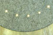 B-Ware Weihnachtsbaum-Unterlage grau rund Ø 90 cm mit 20 LED Bodenschutz Filz