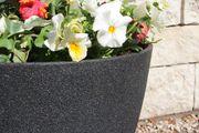 Kunststoff Blumenkübel, Farbe dunkelgrau
