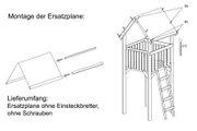 Montage der Spielturm-Dachplane