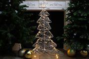 Silberdraht Weihnachtsbaum mit LED Beleuchtung