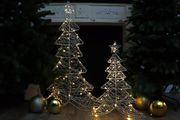 Silberdraht Weihnachtsbaum set gross und klein