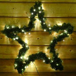 Weihnachtsstern 60 cm mit Girlande und 80 LED