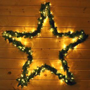 Weihnachtsstern 100 cm mit Girlande und 130 LED