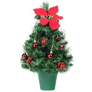 Tisch-Weihnachtsbaum 40 cm mit Weihnachtsstern