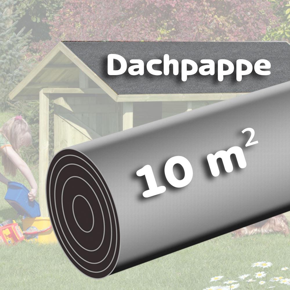 Eine Rolle Dachpappe besandet