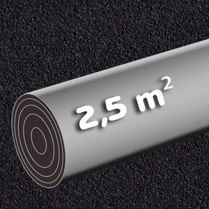 Selbstklebende Dachpappe 2,5 m² schwarz Rolle 5 x 0,5 m