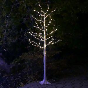 LED-Baum Birke 180 cm mit 160 LED für außen mit Timer