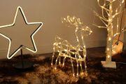 Kleines beleuchtetes Rentier zur Deko Weihnachten